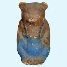 Old Papier Mache Doll Bear Charming Folk Art