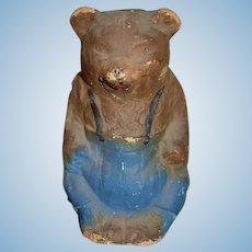 Old Papier Mache Doll Bear Charming Folk Art