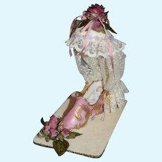 Artist  Doll Miniature Baby Doll in Porcelain Shoe Sweet