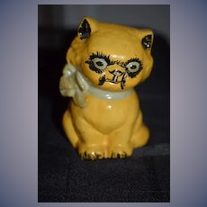 Old Cat Cast Iron Bank Kitty Cat