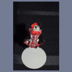 Vintage Miniature Teddy Bear Panda Artist Bear Baby Pan Da Ming Little Gem Dollhouse Jointed