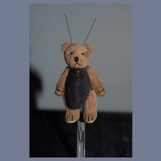 Miniature Artist Teddy Bear Ladybug Jointed Signed MH