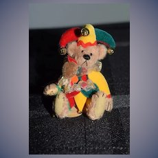 Artist Teddy Bear Miniature Jolly Jester By Deborah Canham Limited Edition Signed