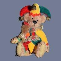 Artist Teddy Bear Miniature Jolly Jester By Deborah Canham Limited Edition Signed