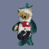 Artist Teddy Bear Miniature Little Gem 1995 Nicholas Holding Panda Bear Muff