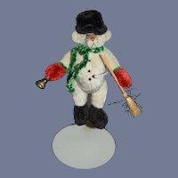 Artist Teddy Bear Half Nelsen By Linda Nelsen Dressed as Snowman Miniature