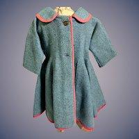 Wonderful Doll Wool Swing Coat Peter Pan Collar