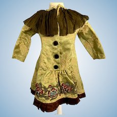 Gorgeous Doll Dress Hand Made Fancy Brocade