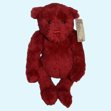 Red Mohair Teddy Bear GUND Celebrating America's Teddy Bear Mohair Jointed W/ Tags