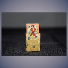 Old Miniature Playing Cards For Doll In Original Case