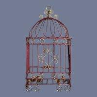 Sweet Vintage Doll Miniature Ornate Birdcage Bird Cage Dollhouse
