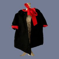 Vintage Doll Hand Made Swing Coat W/ Collar
