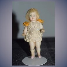Antique Doll All Bisque Miniature Dollhouse Sweet
