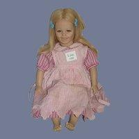 "Vintage Artist Doll Annette Himstedt ""LISA"" 1986 26"" Tall"