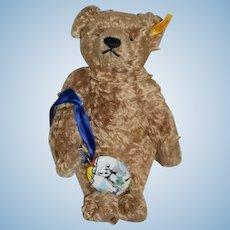 Steiff Teddy Bear Jointed Mohair Festival of Stein XIX Button Tag Porcelain Charm 667763