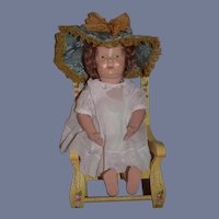 Antique Doll Schoenhut Wood Carved Walker Doll Jointed