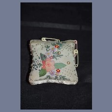 Vintage Pincushion Pin Cushion Needle Work Miniature Pillow Sewing