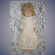 Vintage Italian Felt Doll Jointed Jointed Cloth Doll