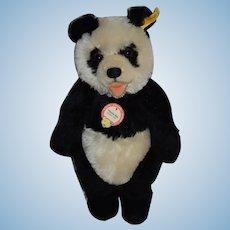 Steiff Panda Bear Panda-Bar 017829 Mohair Jointed Button Tag Chest Tag Teddy Bear