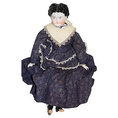 Antique Doll China Head Sweet Center Part