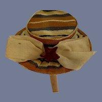Vintage Miniature Hand Made Doll Hat Bonnet Pill Box Fancy Petite Doll