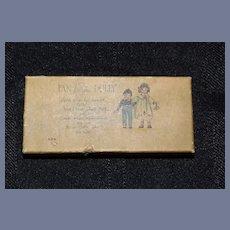 Old Miniature Litho Box W/ Miniature Doll Fan Dearest Dolly Adorable