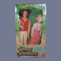 Vintage Doll Set Young Sweethearts By Mattel in Original Box Michael and Melinda