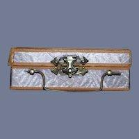 Wonderful Old Doll Litho Metal Lock Doll Trunk Luggage