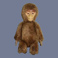 Old Miniature Schuco Yes No Monkey Mohair Metal Face Doll Size