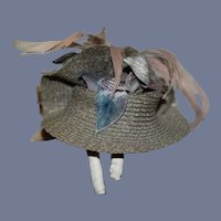 Sweet Artist Doll Hat Bonnet Tagged By ORiginal By Marguerite Schlumpf