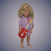 Vintage 1984 Sasha Harlequin Doll W/ Guitar and Wrist Tag