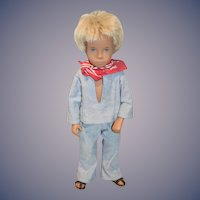 Vintage Sasha Doll Gregor W/ Jean Two Piece outfit Bandanna