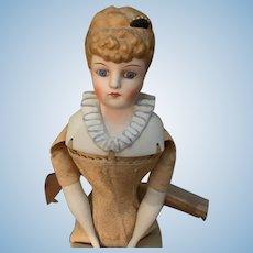 Vintage Emma Clear Parian Doll China Head  Fancy Hair Style Hair Piece
