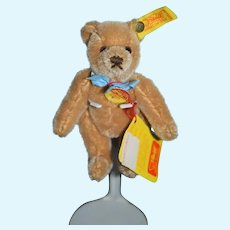 Vintage Miniature Steiff Teddy Bear Jointed 0201/14 Button Tag Booklet