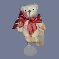 Vintage Miniature Mohair Jointed Teddy Bear Limited Edition Perfume Bottle W/ Tags