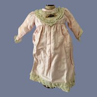 Sweet Vintage Doll Dress Lace Trim
