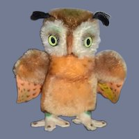 Steiff Owl Wittie Button Tag Mohair 2620/14