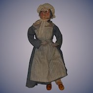 Vintage Papier Mache Doll Set Man and Woman Unusual Character Folk Art