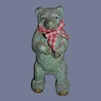 Old Aluminum Teddy Bear Bank