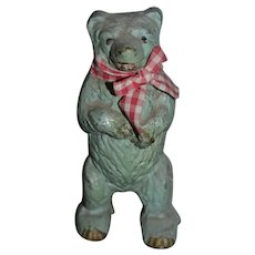 Old Aluminum Teddy Bear Bank