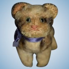 Old Miniature Mohair Kitten Cat Jointed Doll Friend