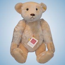 """Huge Vintage Steiff Teddy Bear Mohair Jointed W/ Button Tag and Tags 0157/60 25"""" Tall"""