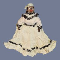 Old Bisque Black Lady Doll Miniature Dressed Character