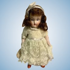 Antique Doll All Bisque Jointed Dollhouse Miniature Nicely Dressed