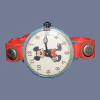 Old Marx Mickey Mouse Toy Watch