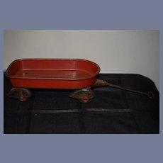 Old Doll Red Wagon Wyandotte Toys Cast Iron