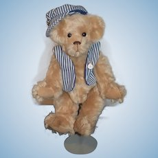 "Ro Bears By Connie Roark Mohair Jointed ""George"" Number 31 Artist Teddy Bear Signed and Numbered"