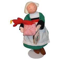 Vintage Becassine Doll French Comic Strip Doll W/ Original Tag