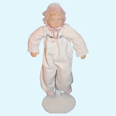 Vintage Artist Doll Wood Carved Head Signed Dated Janci Dolls