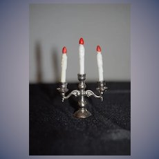Vintage Doll Miniature Candelabra Dollhouse W/ Faux Candles